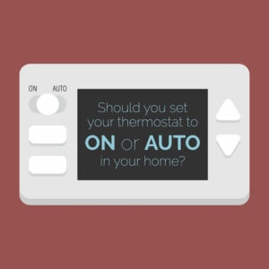 Thermostat On or Auto